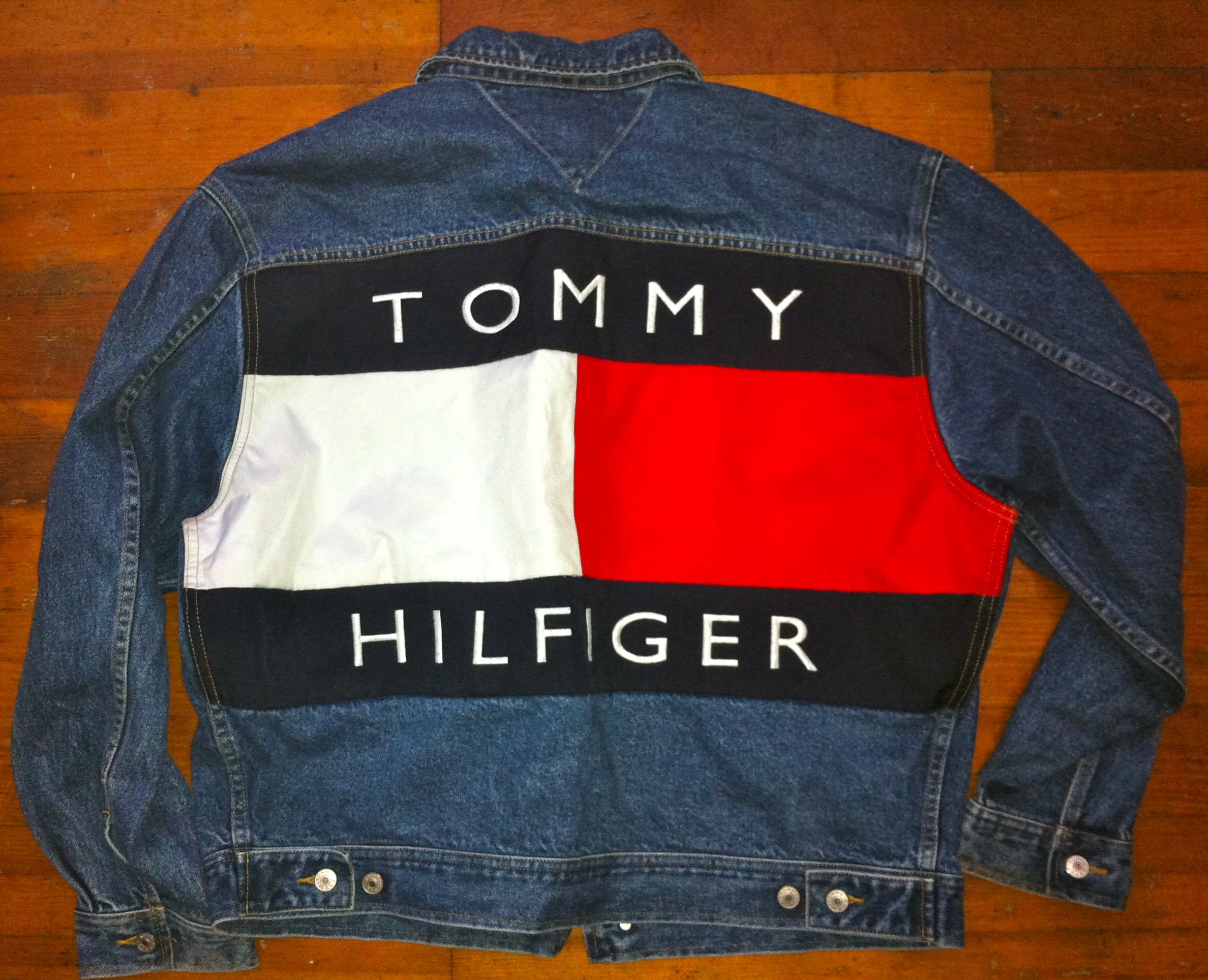Vintage Mens Fashion Tommy Hilfiger 90s Denim Jacket