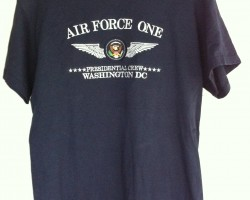 Air Force one Tshirt navy blue