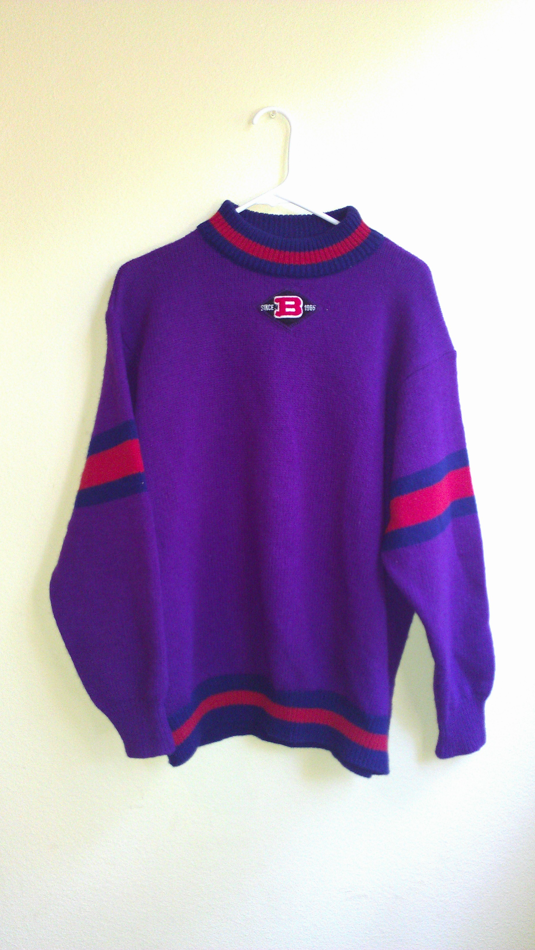 f95d8448b03a VINTAGE 80S UNITED COLORS OF BENETTON ITALY MENS CREWNECK SWEATER ...