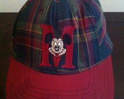 Mickey Mouse Plaid Small snapback