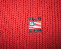 Polo Jeans Ralph Lauren Red Knit Sweater