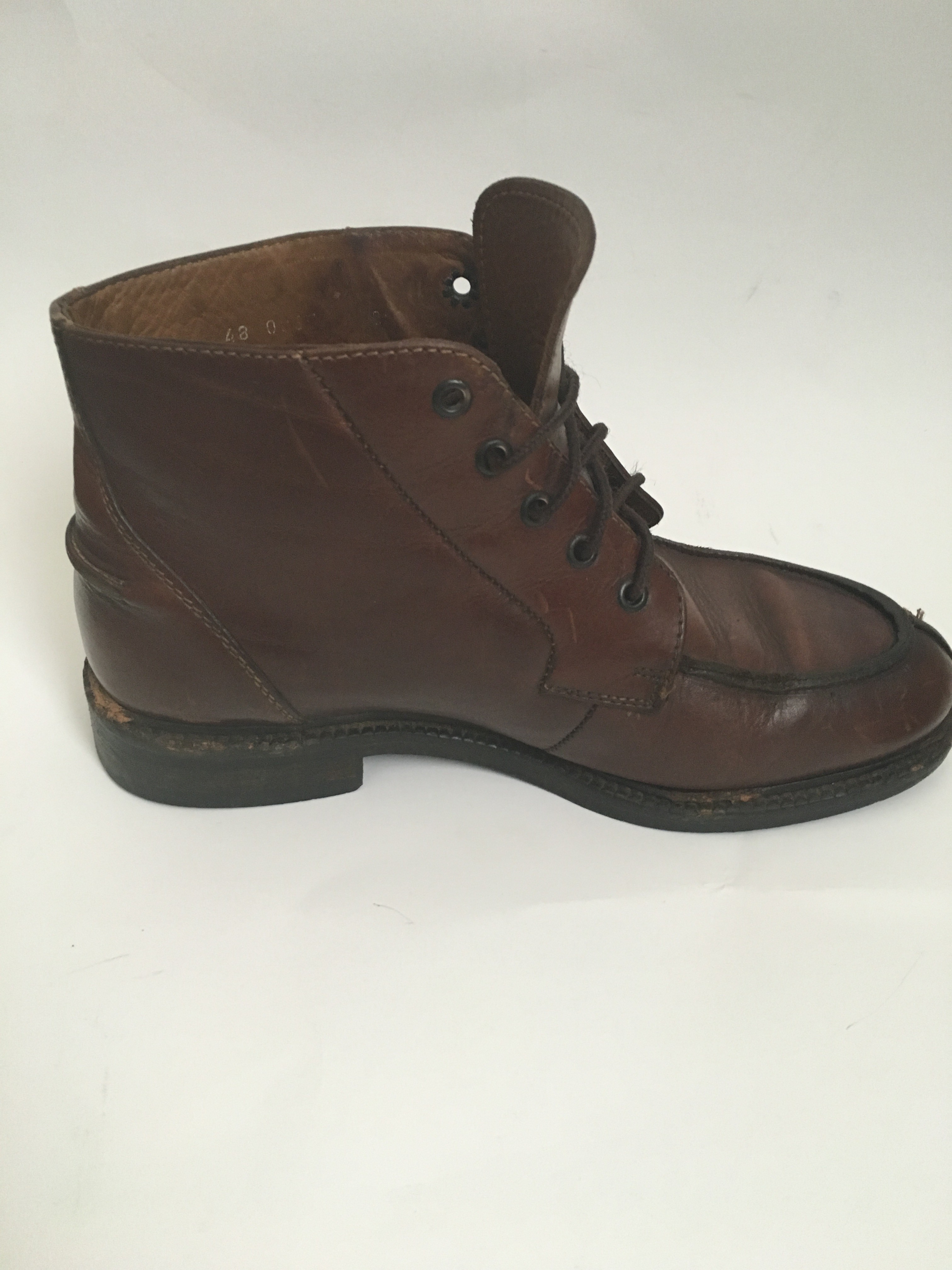 Kenneth Cole New York Made In Italy Brown Leather Men Ankle Boot