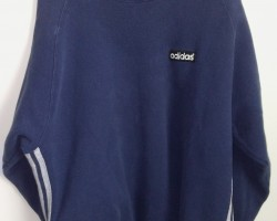 Adidas vintage 90s Made in USA blue sweater
